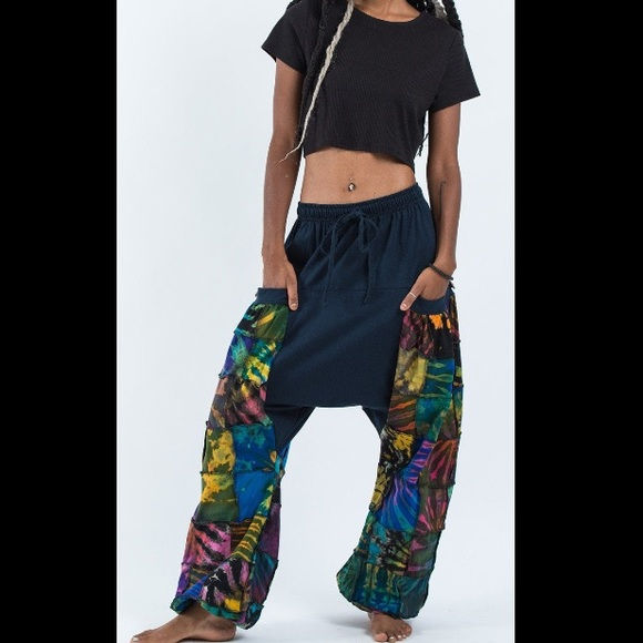 Pants - Tie Dye Cotton Women Harem Pants